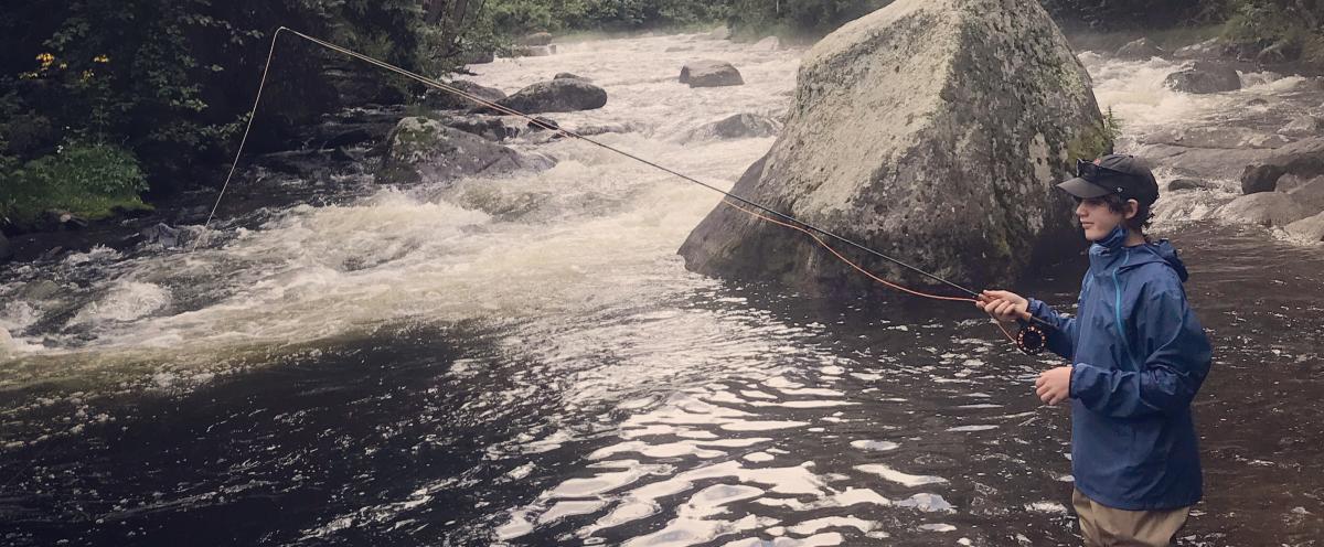 Boy Fishing at Walker Ranch