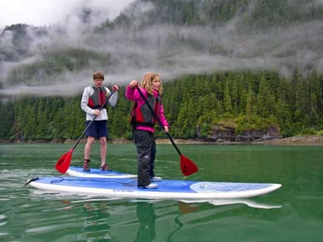 Stand-up Paddle Boarding on an Alaska Adventure Cruise