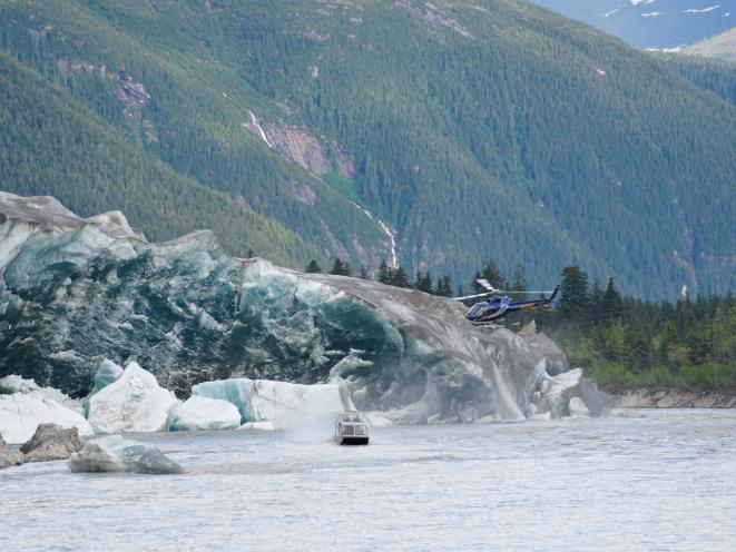 Helicopter Airboat Glacier