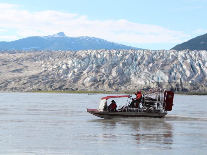 Wide Shot - Taku Glacier Airboat