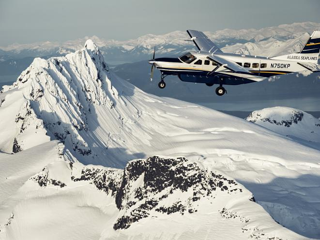 Snowcapped Mountain & plane