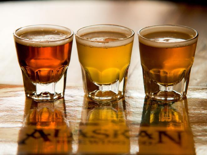 Alaskan Beer in Alaskan Bar