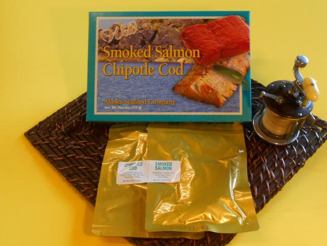 Smoked Chipotle Cod / Pacific Salmon Combo 8 oz