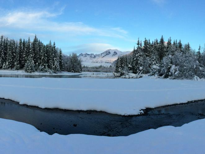 Mendenhall River & Glacier - Winter