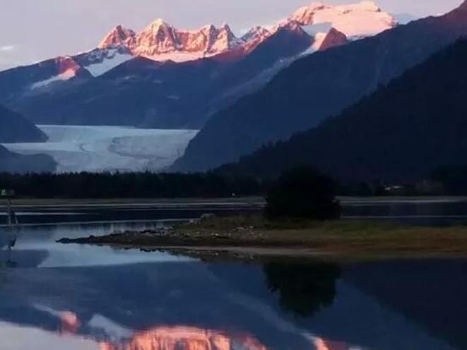 Mendenhall Glacier at Sunset