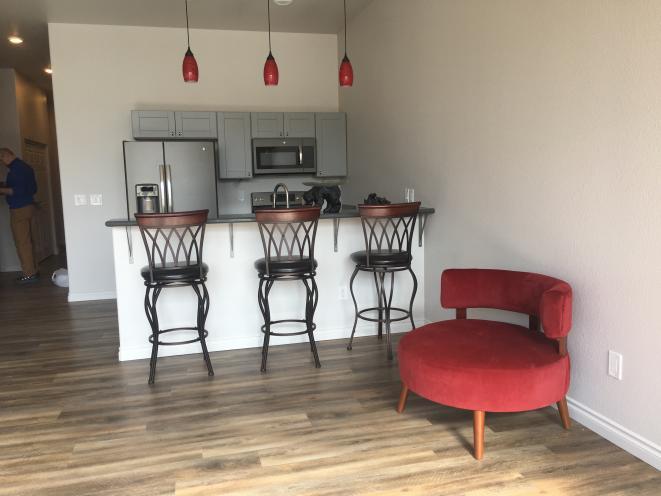 Kitchen in apartment 202