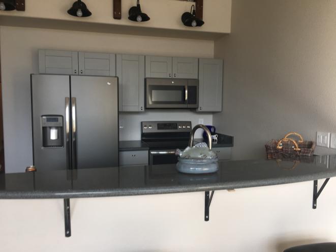 Kitchen in loft apartment 302