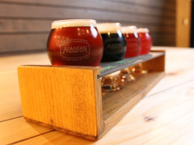 Alaskan Brewing Co.- flight of beer