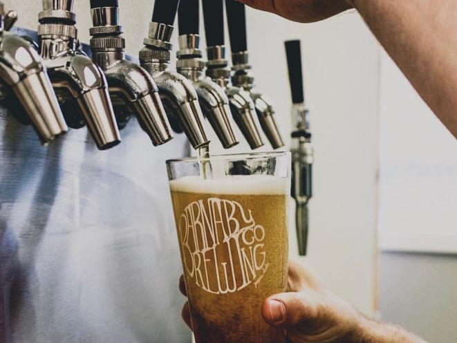 Barnaby Brewing Pour