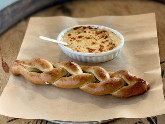 Devil's Club Brewing Co.- Pretzel with beer cheese