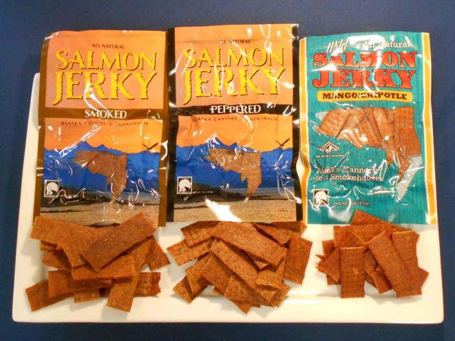 Smoked, Smoked Mango Chipotle, Smoked Peppered Salmon Jerky Combo