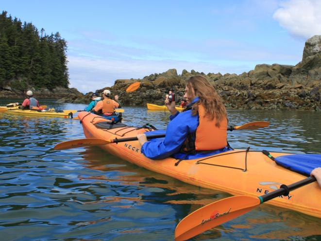 Kayaking in Juneau
