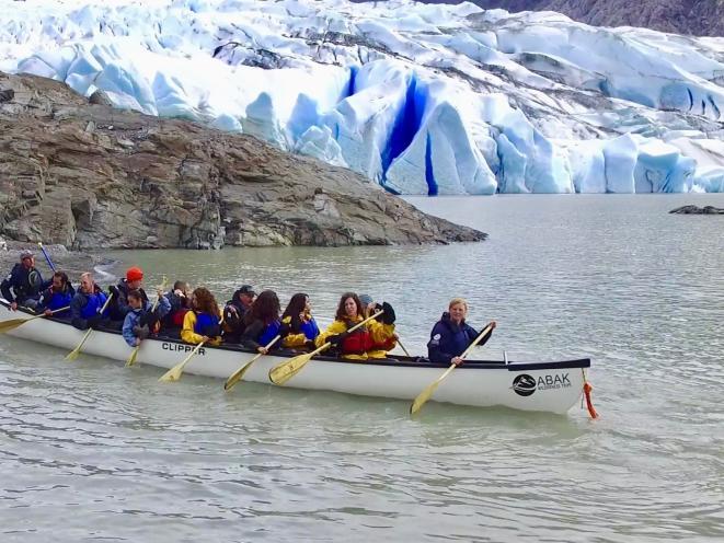 Glacier Canoe Paddle & Trek