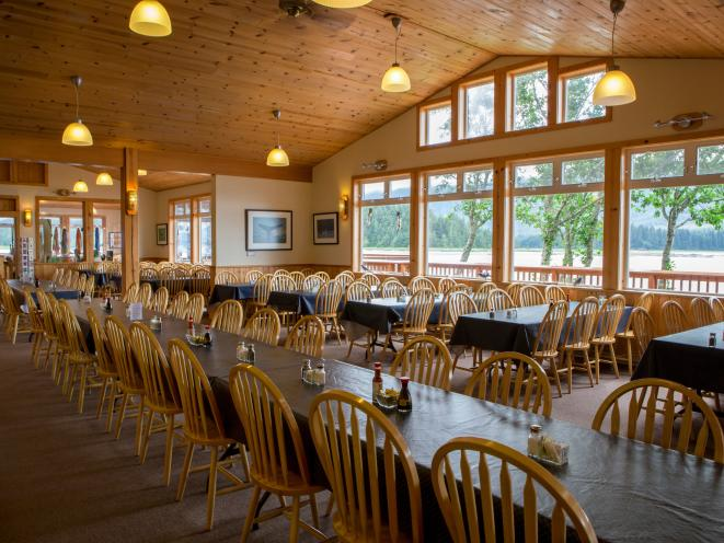 Orca Point Lodge - Inside Seating