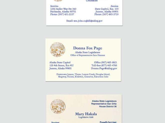 Legislative Business Cards w/ Gold Foil Stamp