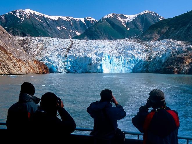 Passengers Viewing Glacier