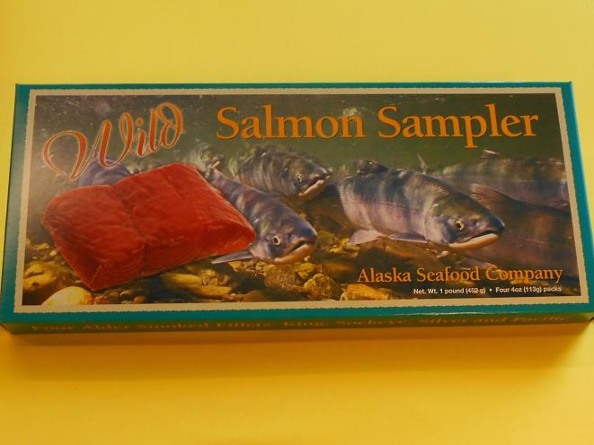 Smoked Salmon Sampler 4 oz of King, Sockeye, Coho, and Pacific