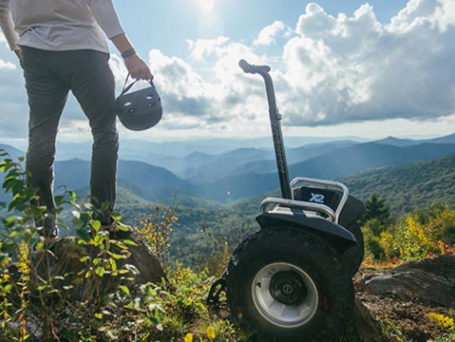 Segway on a mountain top