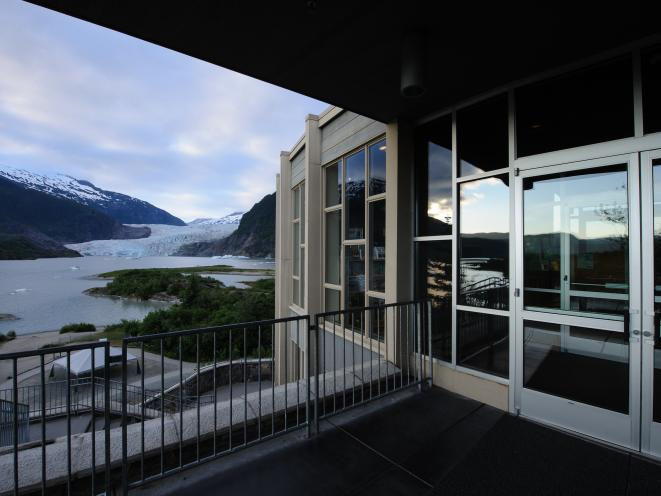 Mendenhall Glacier Visitor Center entry