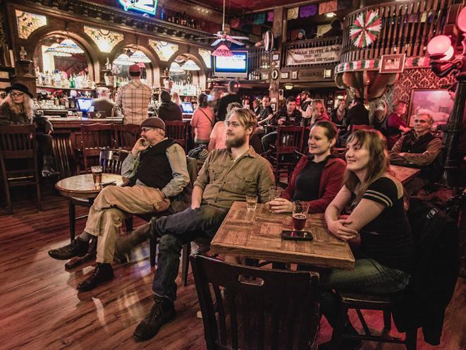 Enjoy live music at the bar