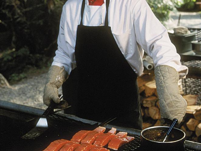 Wild Alaskan Salmon grilled to perfection.