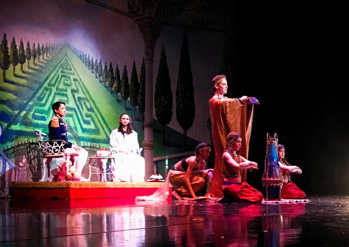 dancers performing on stage in Nutcracker Ballet