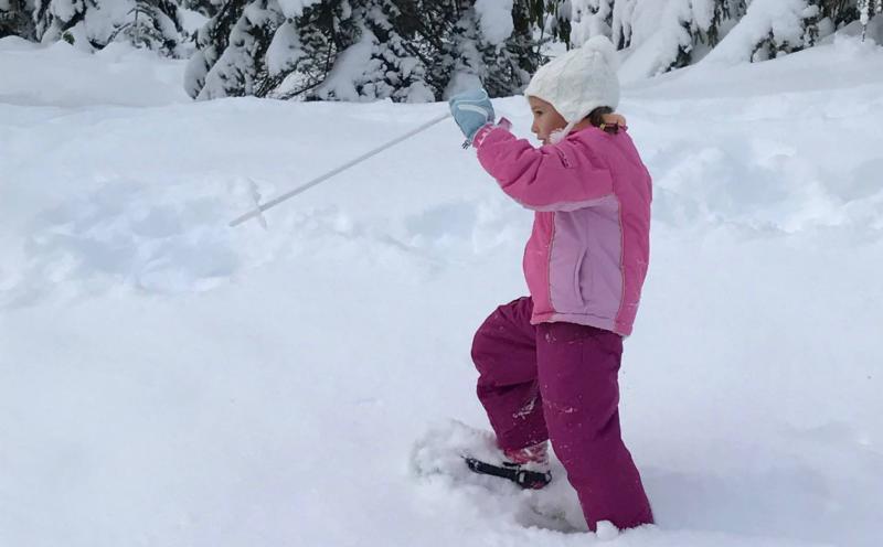 Snowshoeing at Salt Creek Park by Taj Morgan
