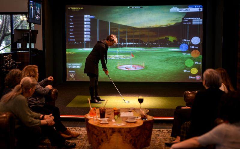 Topgolf Swing Suite at Graduate Hotel Eugene by Melanie Griffin