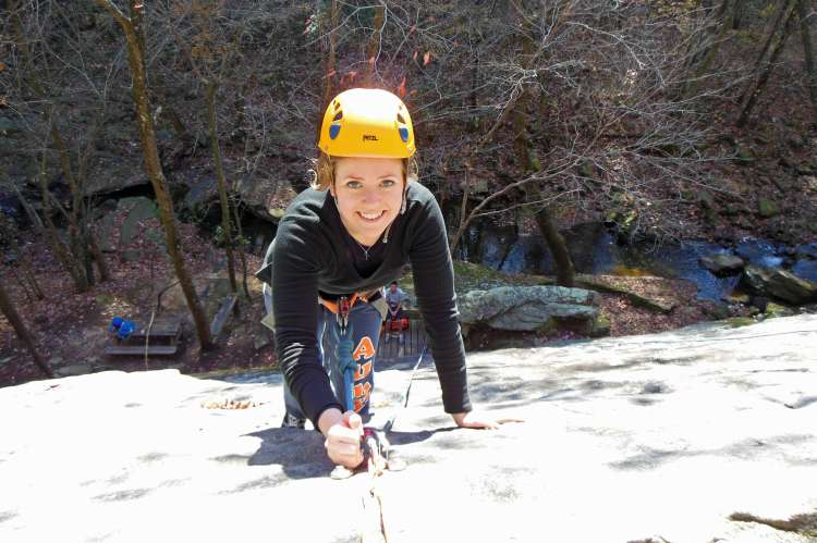 Rock Climbing at Hurricane Creek Park