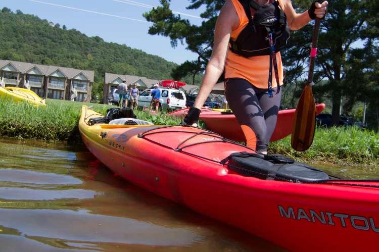 Lady Kayaking