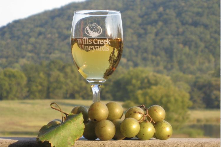 Wills Creek Winery Wine Glass