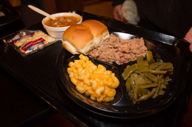Plate of Lawlers BBQ