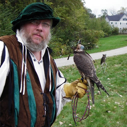 Mark Booth of Take Flight! Wildlife Education will portray the Royal Falconer.
