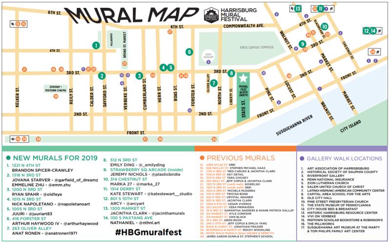 Mural Fest Map 2019