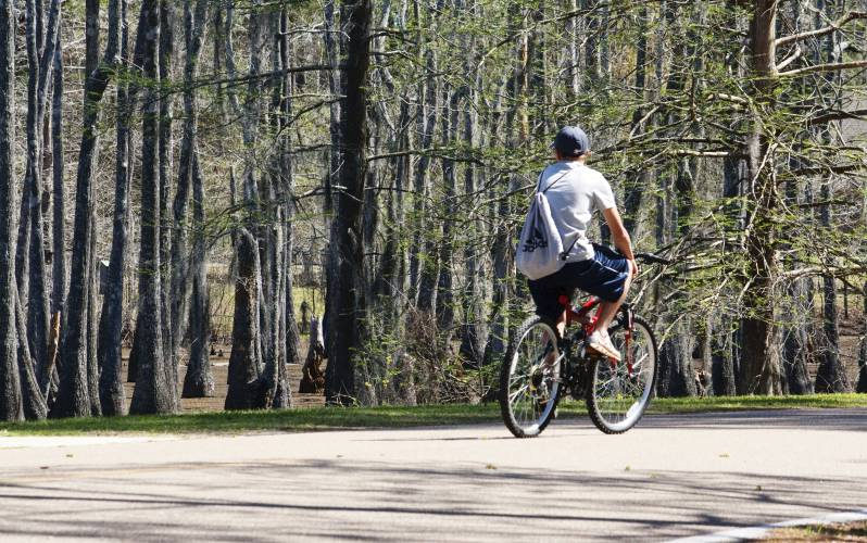 Sam Houston Jones State Park Biking