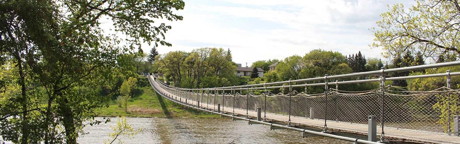 Swinging bridge pictures