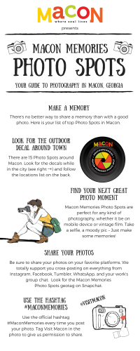 Macon Memories Photo Spots Infographic