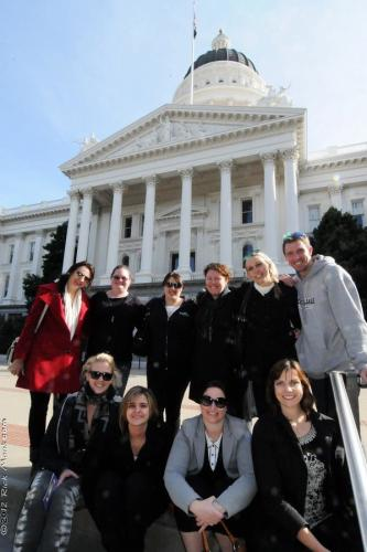Sacramento Fam Trip Participants Enjoy the State Capitol