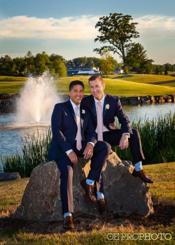 Same sex couple at Saratoga National Golf Club