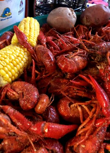 Crawfish Boil at Crazy Cajun