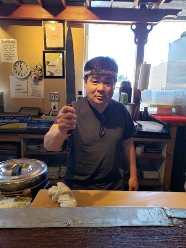 Chef-at-Joy-Sushi