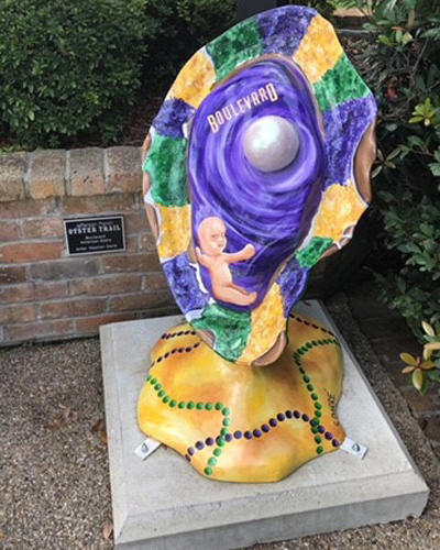 Boulevard American Bistro Oyster Sculpture