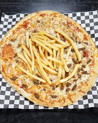 Cheeseburger Fry Pizza Special of the Month