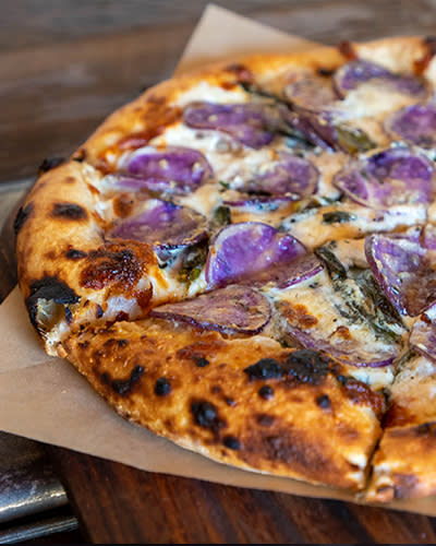 pizza with purple potatoes