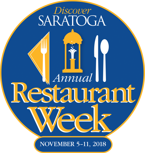 2018 Discover Saratoga Annual Restaurant Week Logo