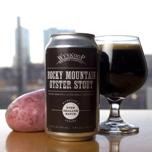 Rocky Mountain Oyster Stout beer can