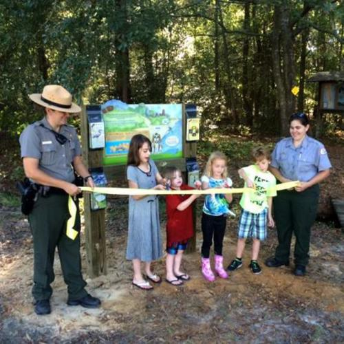 Junior Park Ranger Ribbon Cutting