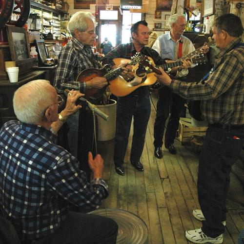 Musicians at Mast General Store