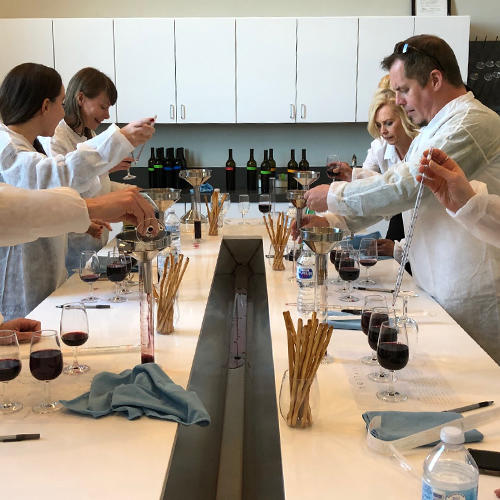 Wine lab at Bottaia