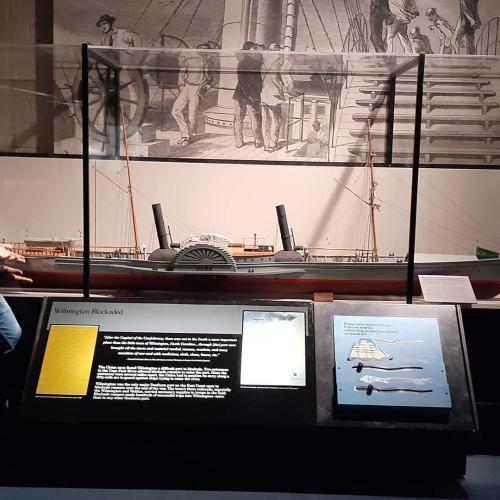 Blockading Wilmington exhibit at CF Museum